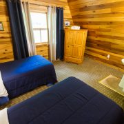 twin beds in two bedroom chalet