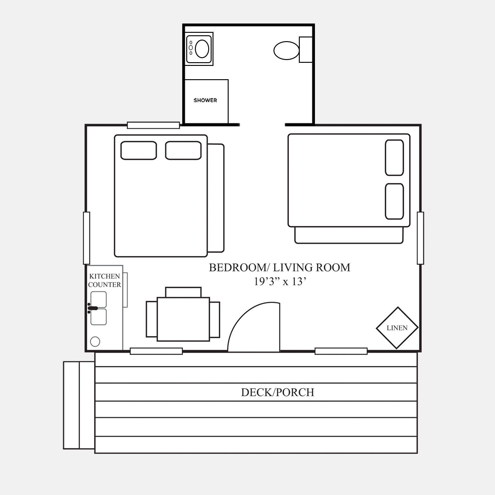 Cedar cabin for Cedar cabin floor plans