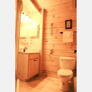 ridgeview retreat cabin bathroom