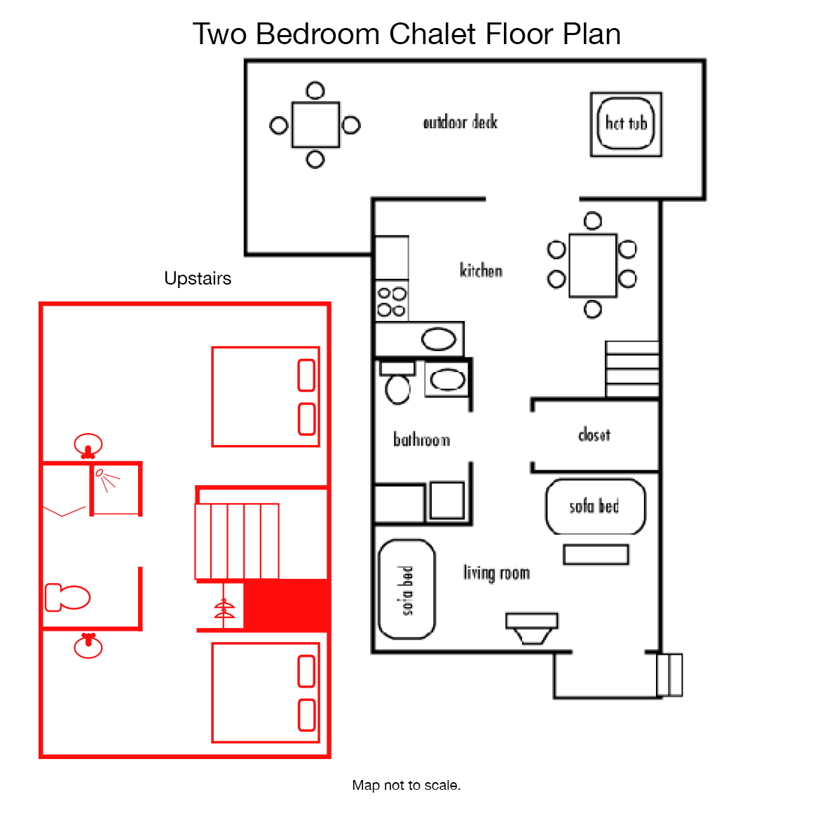 Two bedroom chalet for 2 bedroom chalet plans