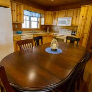 A beautiful kitchen inside of the Red Fox Log Home