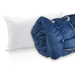 sleeping bag and pillow