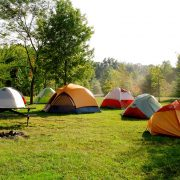 7 tents set up in the ACE Adventure resort campground