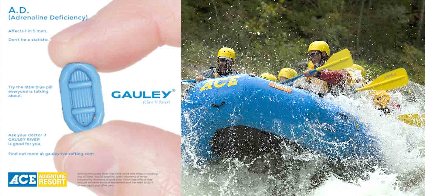 Gauley season little blue pill and whitewater rafting on the lower Gauley River.