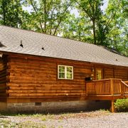 The breathtaking black bear cabin on a sunny day at ACE Adventure Resort