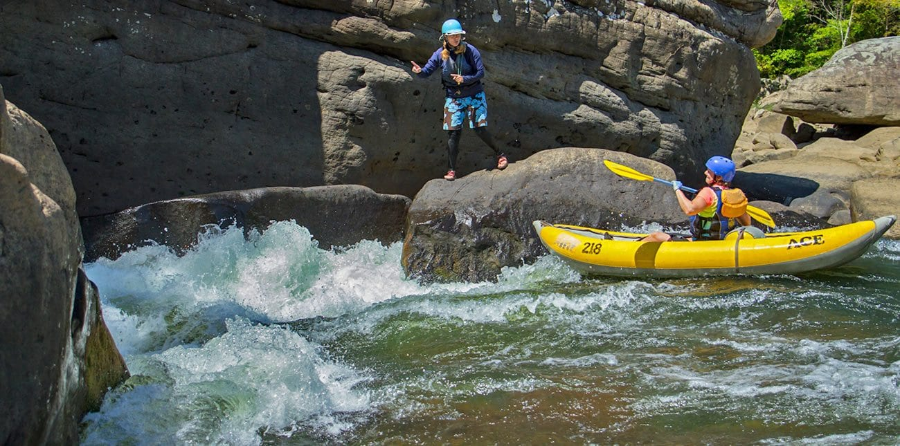 A summer gauley duckie instructional trip