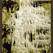 An enchanting cave wall at lost world caverns