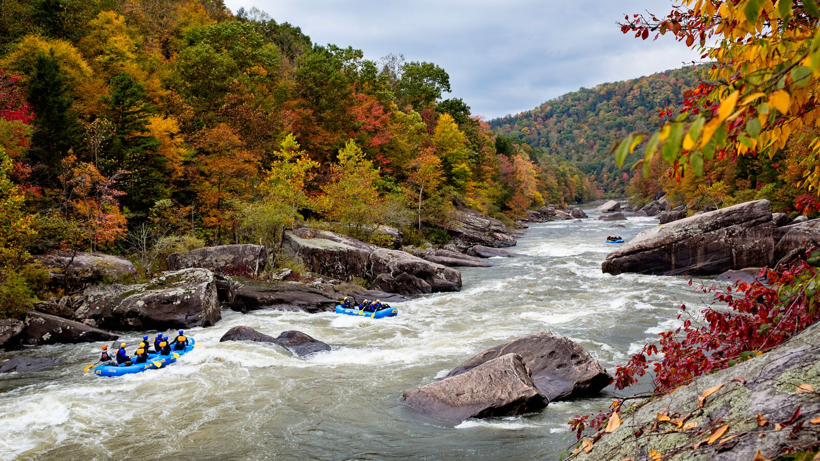 A beautiful view of an Upper Gauley River Rafting Trip