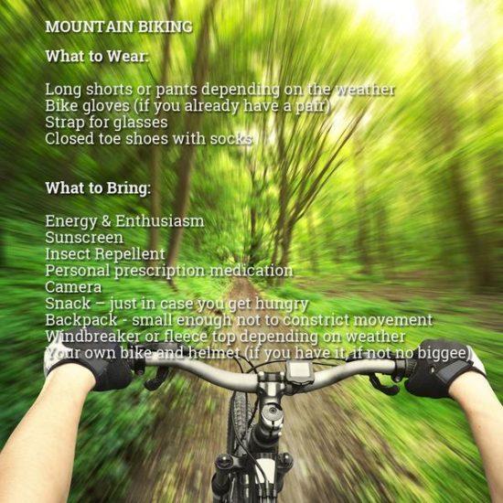Mountain biking must haves