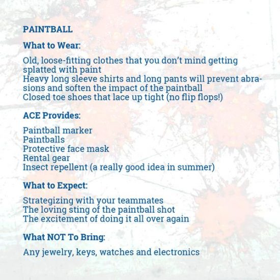 paintball must haves