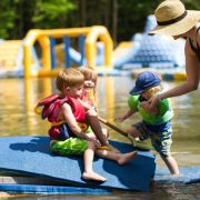 A family enjoys the day out at Wonderland Waterpark