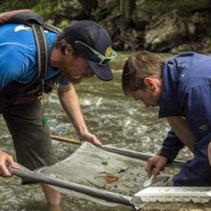 Hydrology team studies the stream