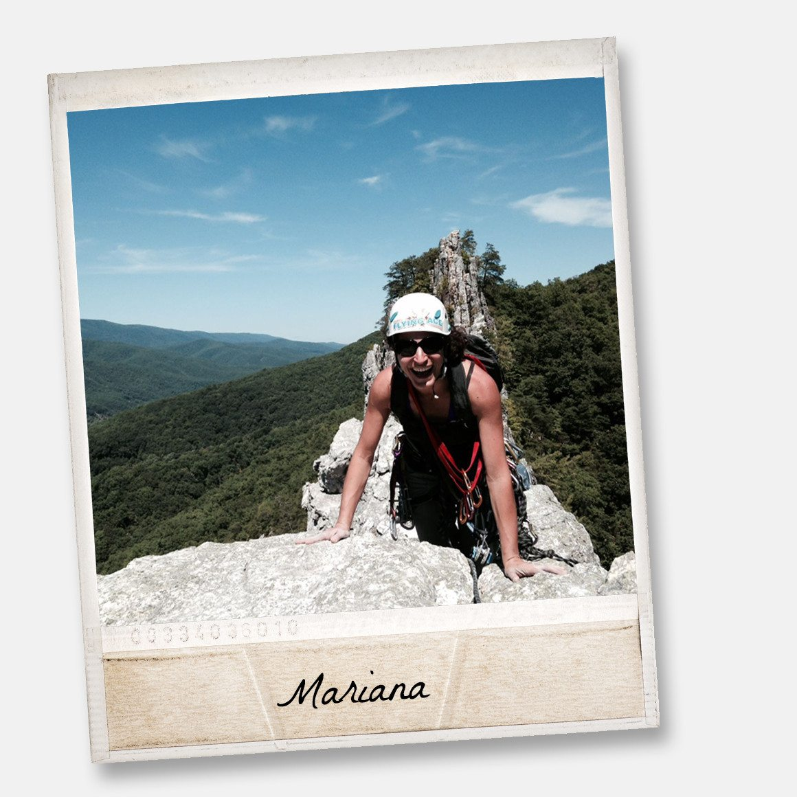Mariana climbing at seneca rocks