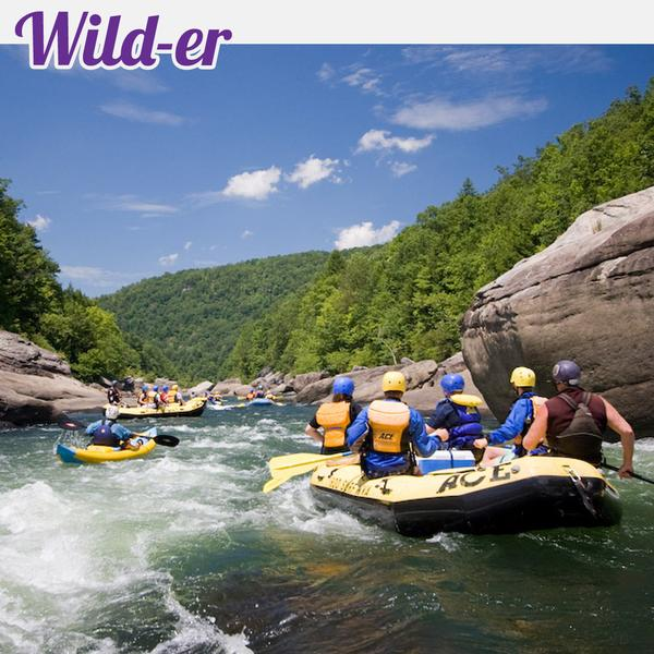 4 man raft on a summer gauley adventure