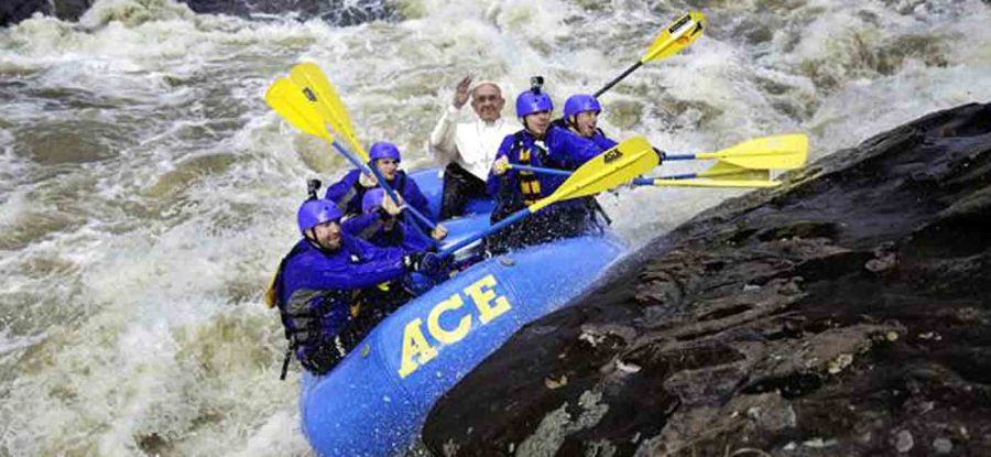 POPE FRANCIS GOES RAFTING