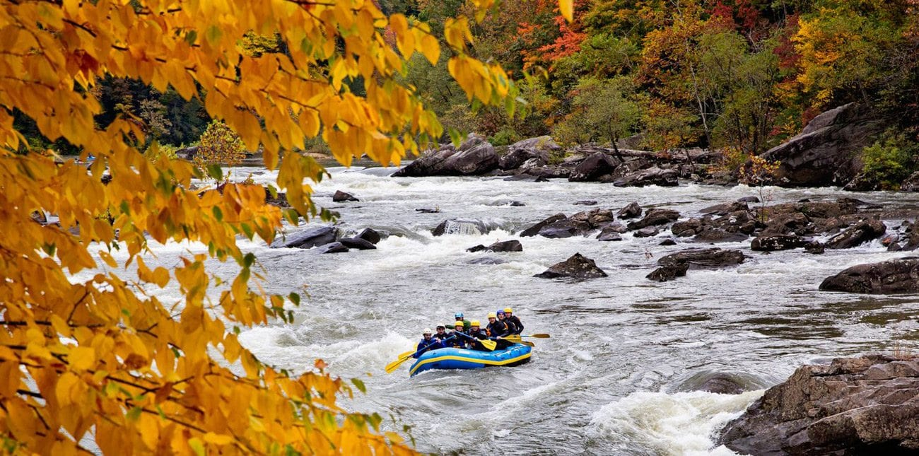 fall rafting at it's finest