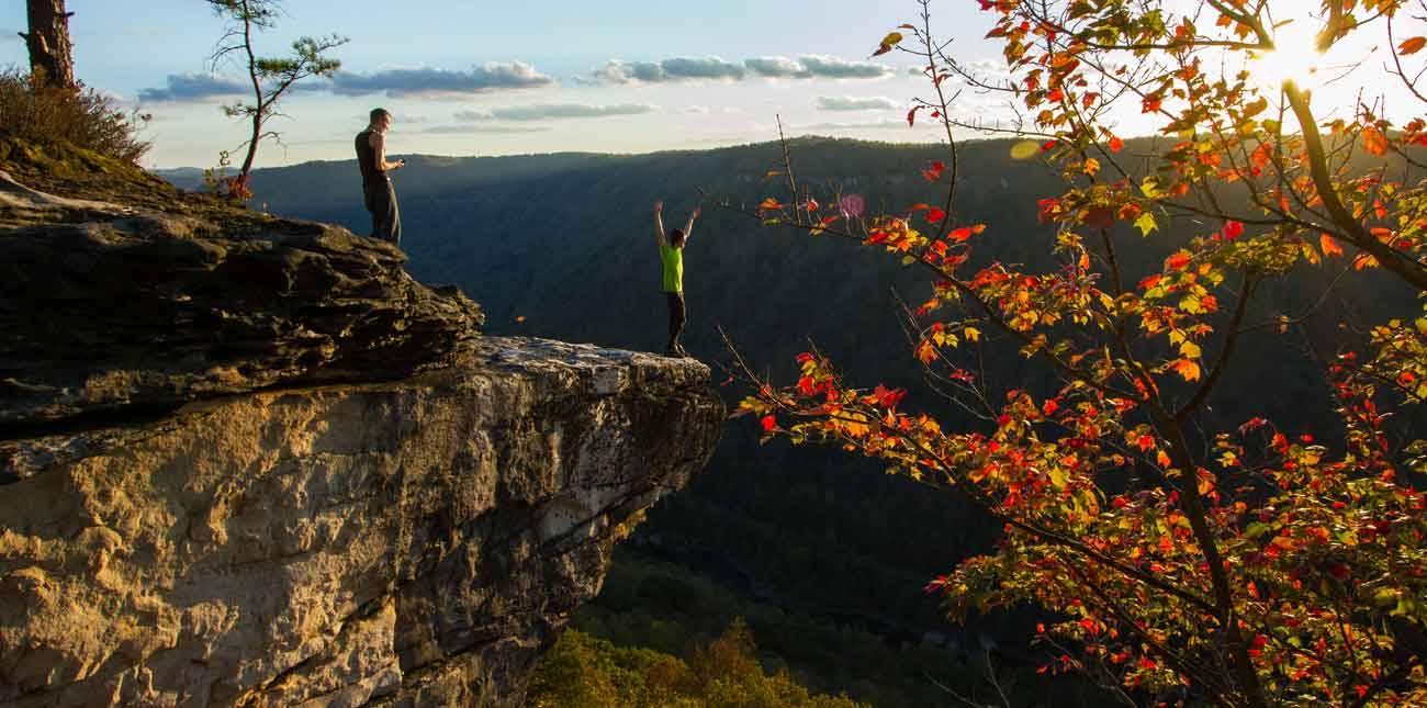 fall in the new river gorge