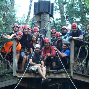 warriors go zip lining
