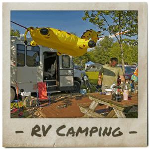 Festival goers enjoy an RV campasite at ACE Adventure Resort