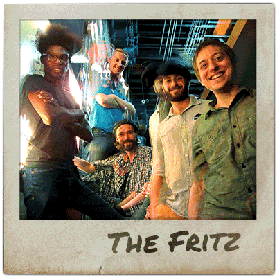 Band members of The Fritz pose for a photograph.