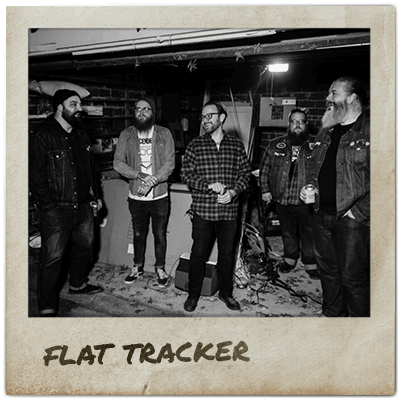 Members of the band Flat Tracker.