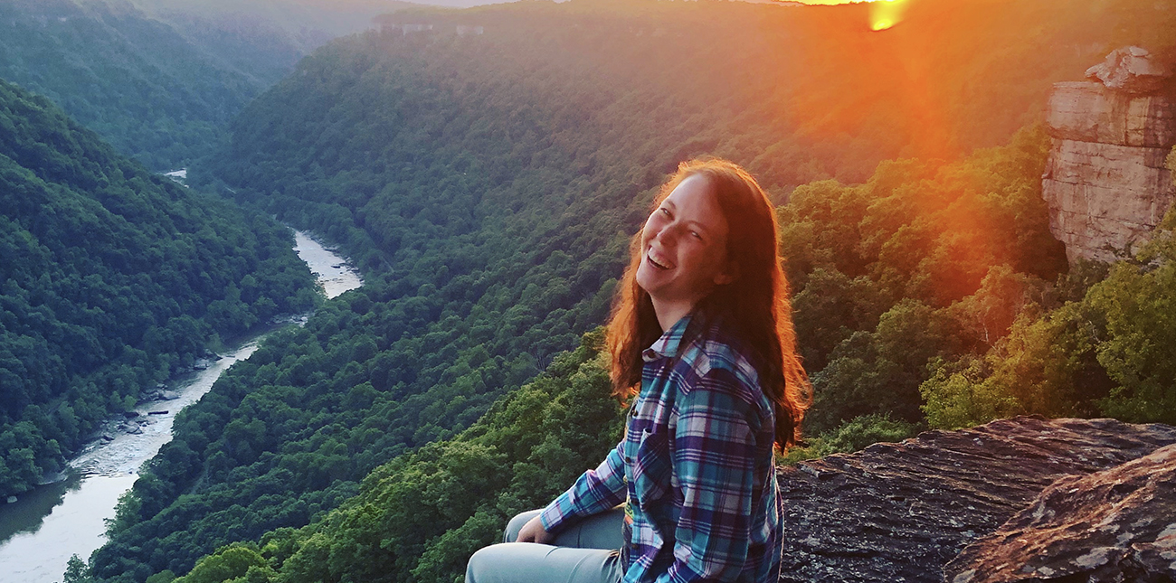 Enjoy the overlook view on Endless Wall Trail at the New River Gorge with ACE Adventure Resort in West Virginia.
