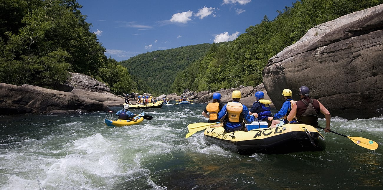 Rafting the summer Gauley with ACE Adventure Resort in West Virginia.
