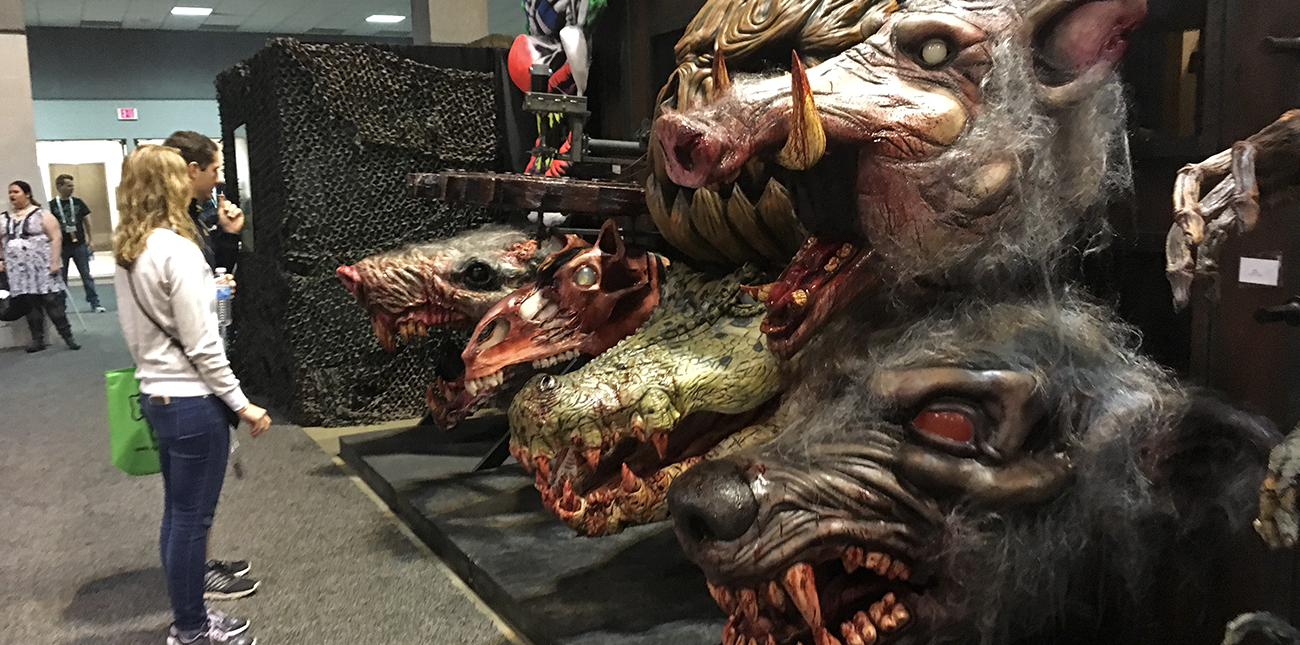 Scenes from Transworld Halloween and Haunt show to inspire Nightmare in the Gorge at ACE Adventure Resort.
