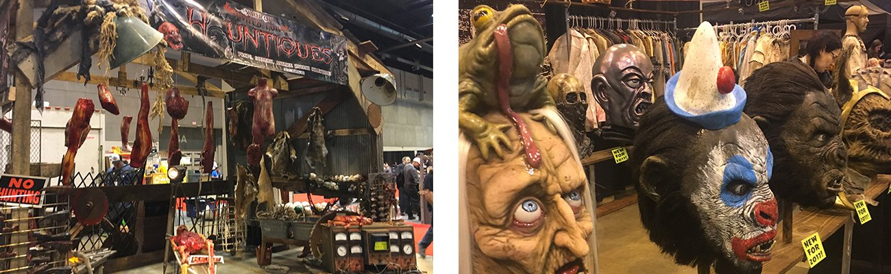 Scenes from Transworld Halloween and Haunt Show to inspire the new innovations for Nightmare in the Gorge at ACE Adventure Resort in Oak Hill, West Virginia.