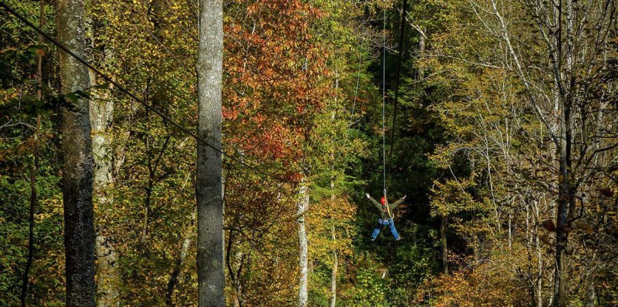 Fall Zip Lining in WV