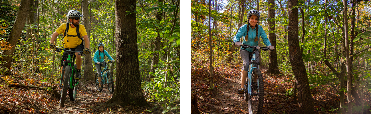 Touring single track on a mountain bike with ACE Adventure Resort in West Virginia.