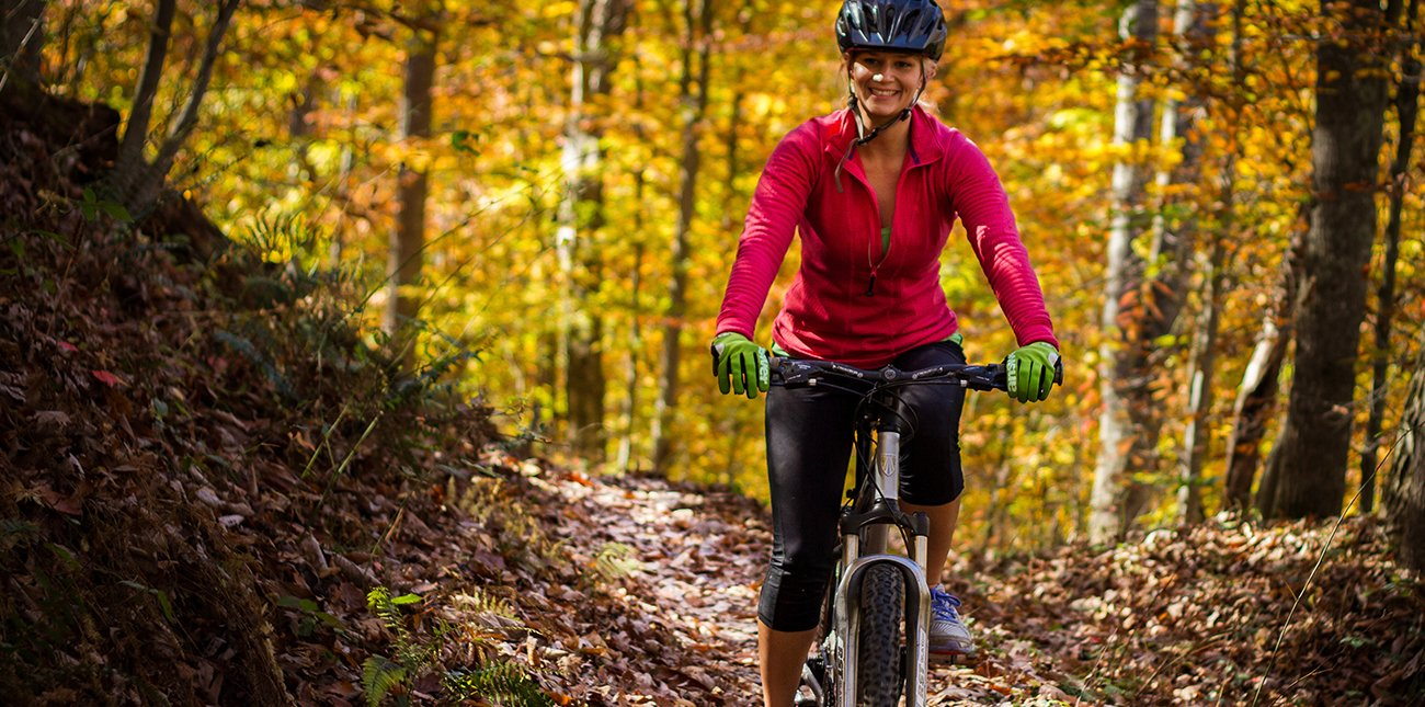 Single track mountain biking in West Virginia with ACE Adventure Resort in Oak Hill.