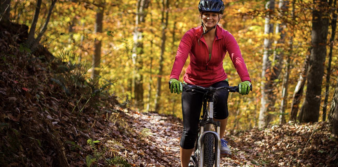 Single track mountain biking in West Virginia with ACE Adventure Resort in Oak Hill.