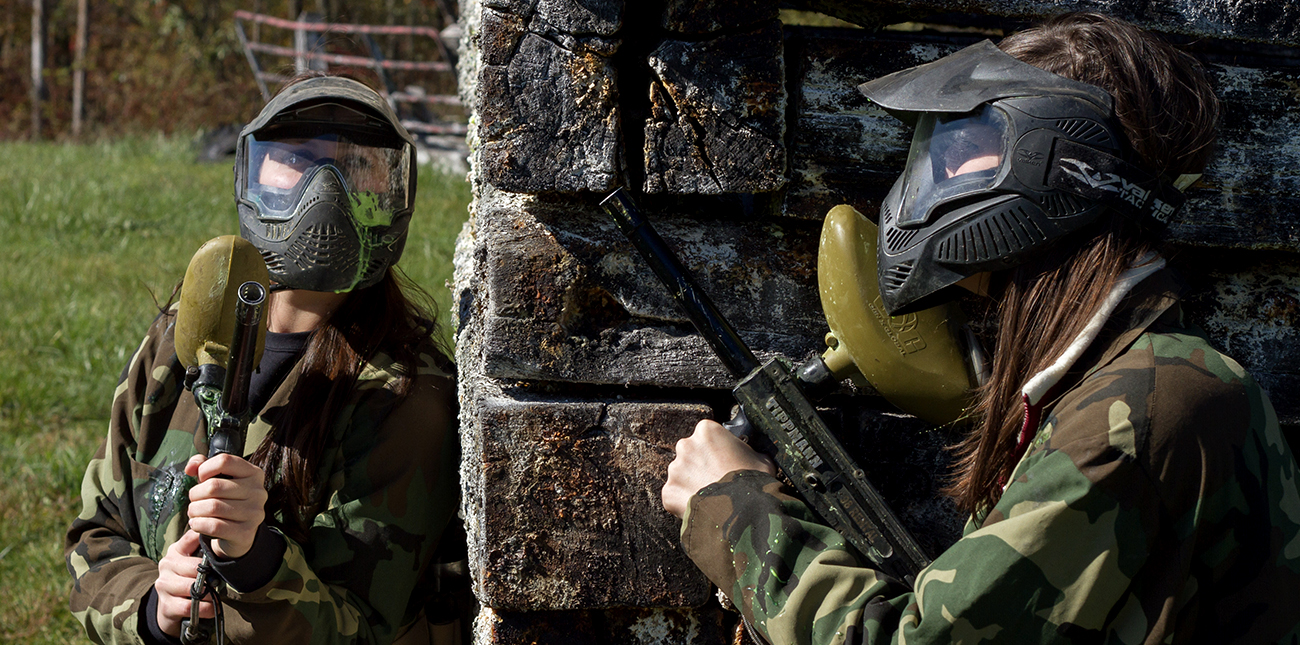 Paintball course and paintball gear at ACE Adventure Resort in Oak Hill, WV.