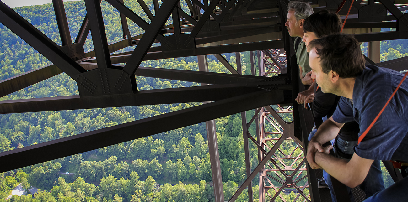 New River Bridge catwalk tours with ACE Adventure Resort in the New River Gorge.