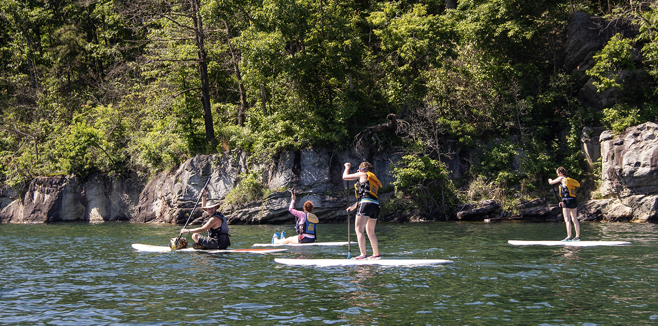 SUP West Virginia adventures on a guided tour with ACE Adventure Resort.