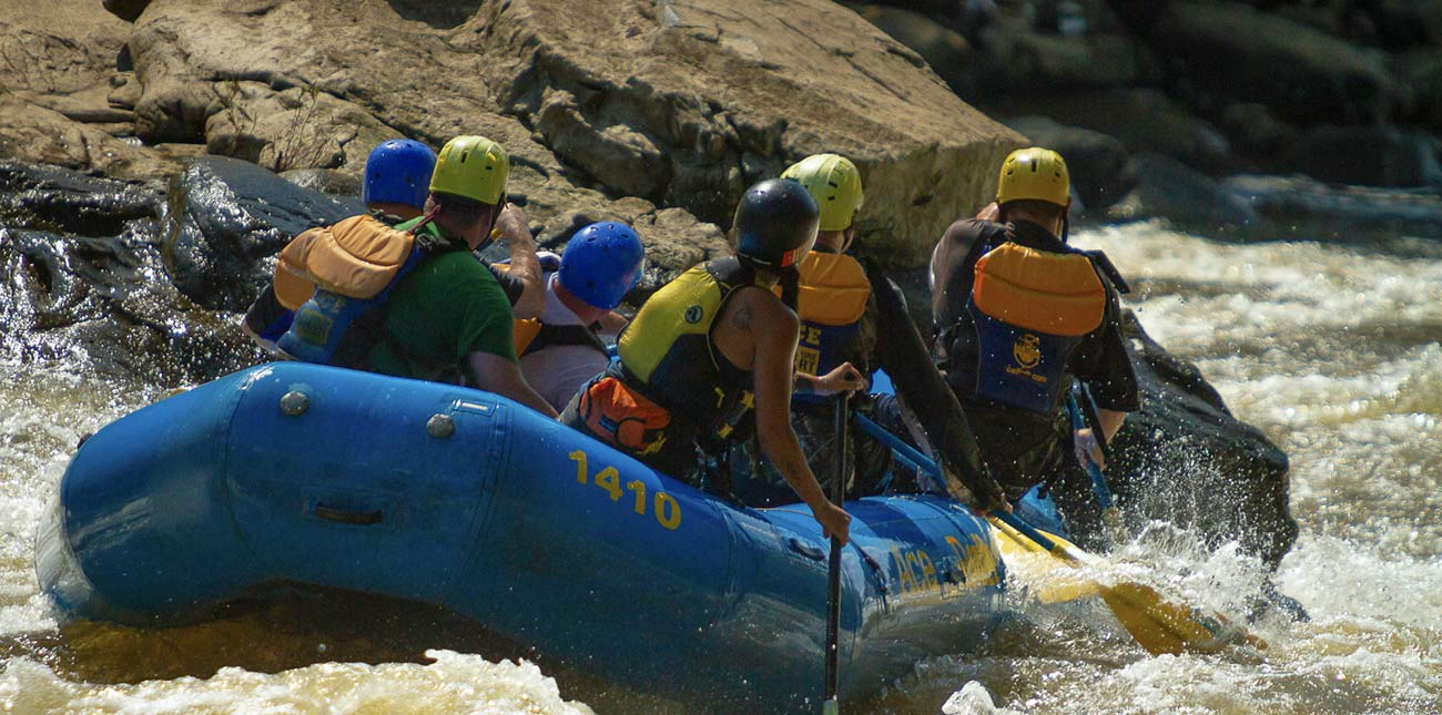 Heaven's Gates, another Class V on the Lower Gauley, occurs in a constriction in the river that resembles a gate.