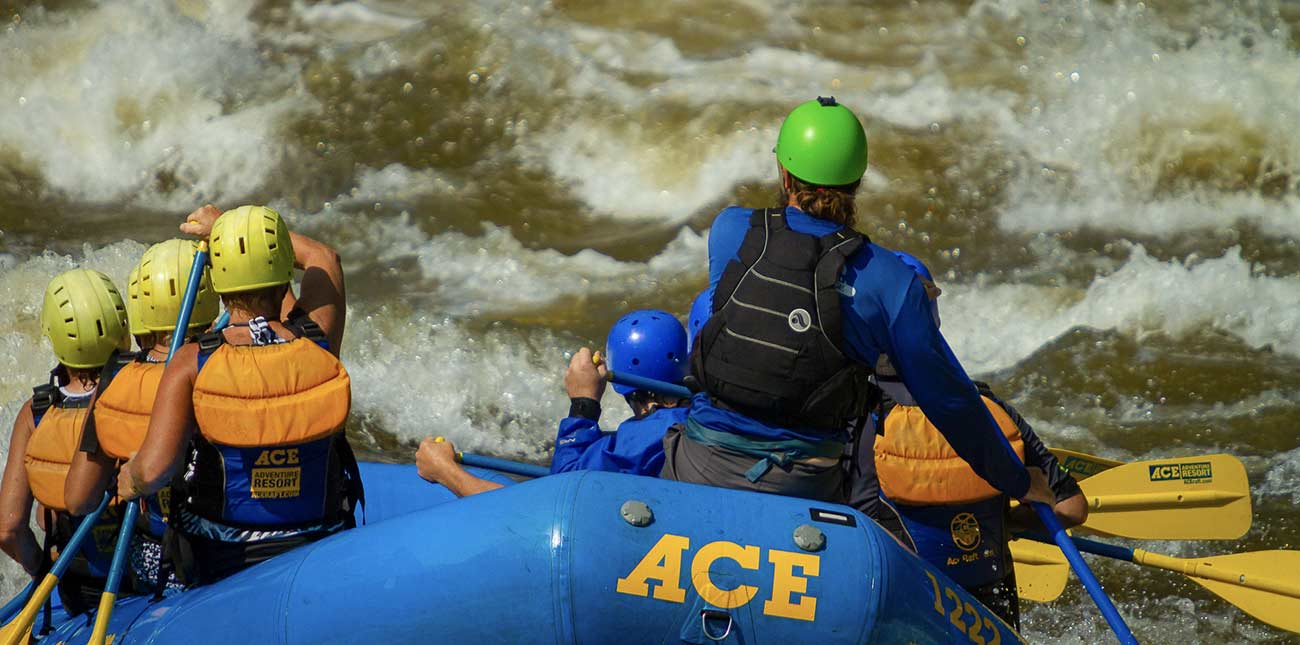 Michael Gilvin drops into Koontz Flume, the first class V rapid on the Lower Gauley River in West Virginia.