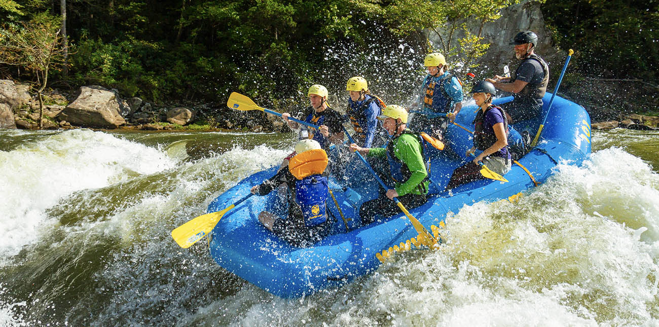 Lost Paddle rapid on the Upper Gauley River in West Virginia with ACE Adventure Resort.