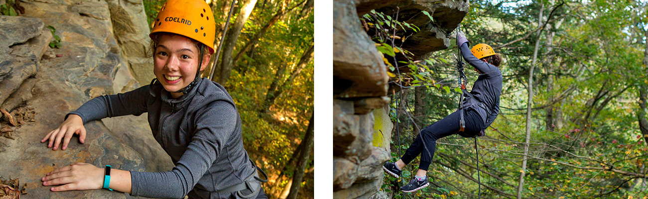 Beginner guided rock climbing in the upper New River Gorge with ACE Adventure Resort.
