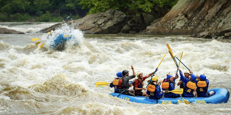 Spring White Water Rafting on the Lower New