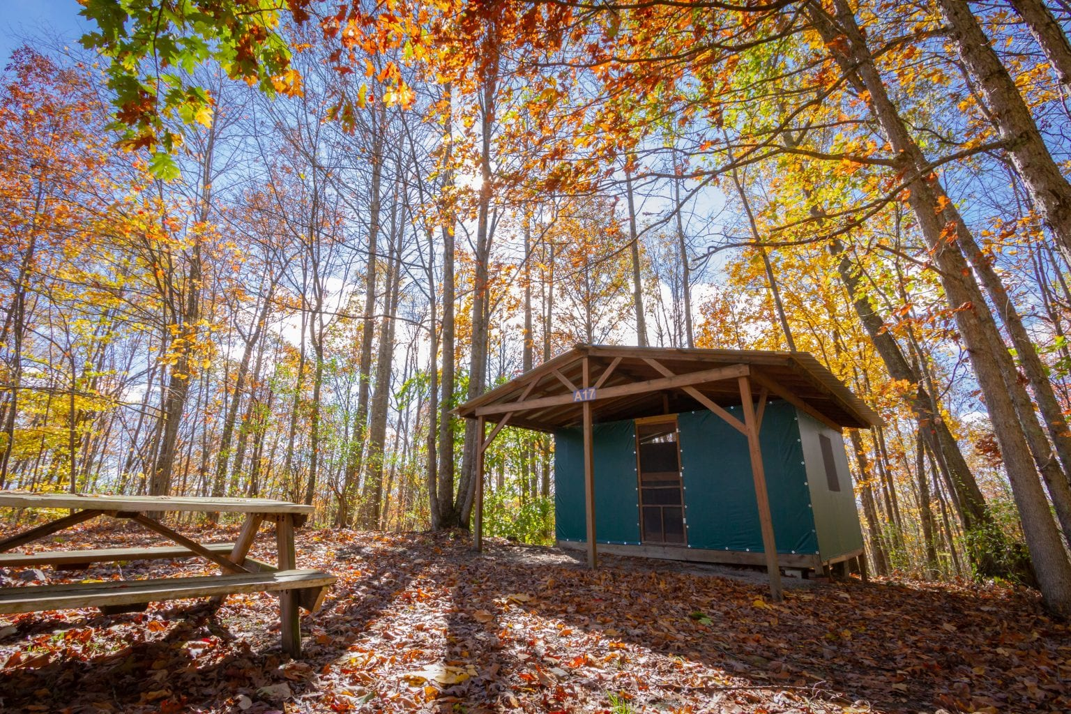 ACE's recently updated cabin tents are an affordable new river gorge rustic lodging option