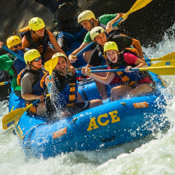 Guests enjoy whitewater rafting