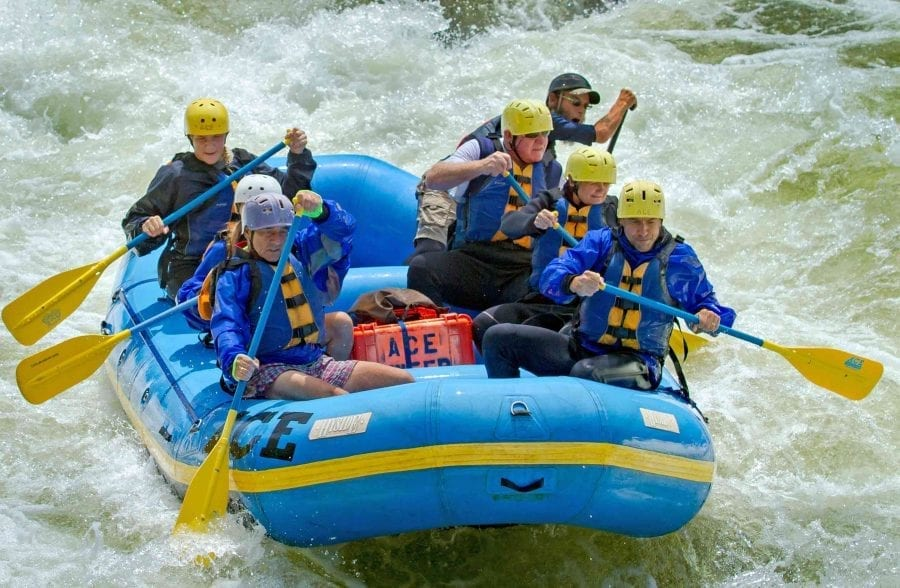 Fall adventures on the Upper Gauley River with ACE Adventure Resort in West Virginia.