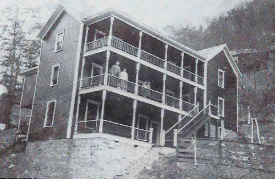 A large wooden building in the coal producing, historical town of Thurmind, WV.