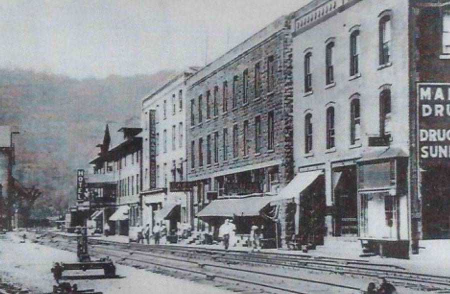 The town of Thurmond, West Virginia at its coal producing hey day.
