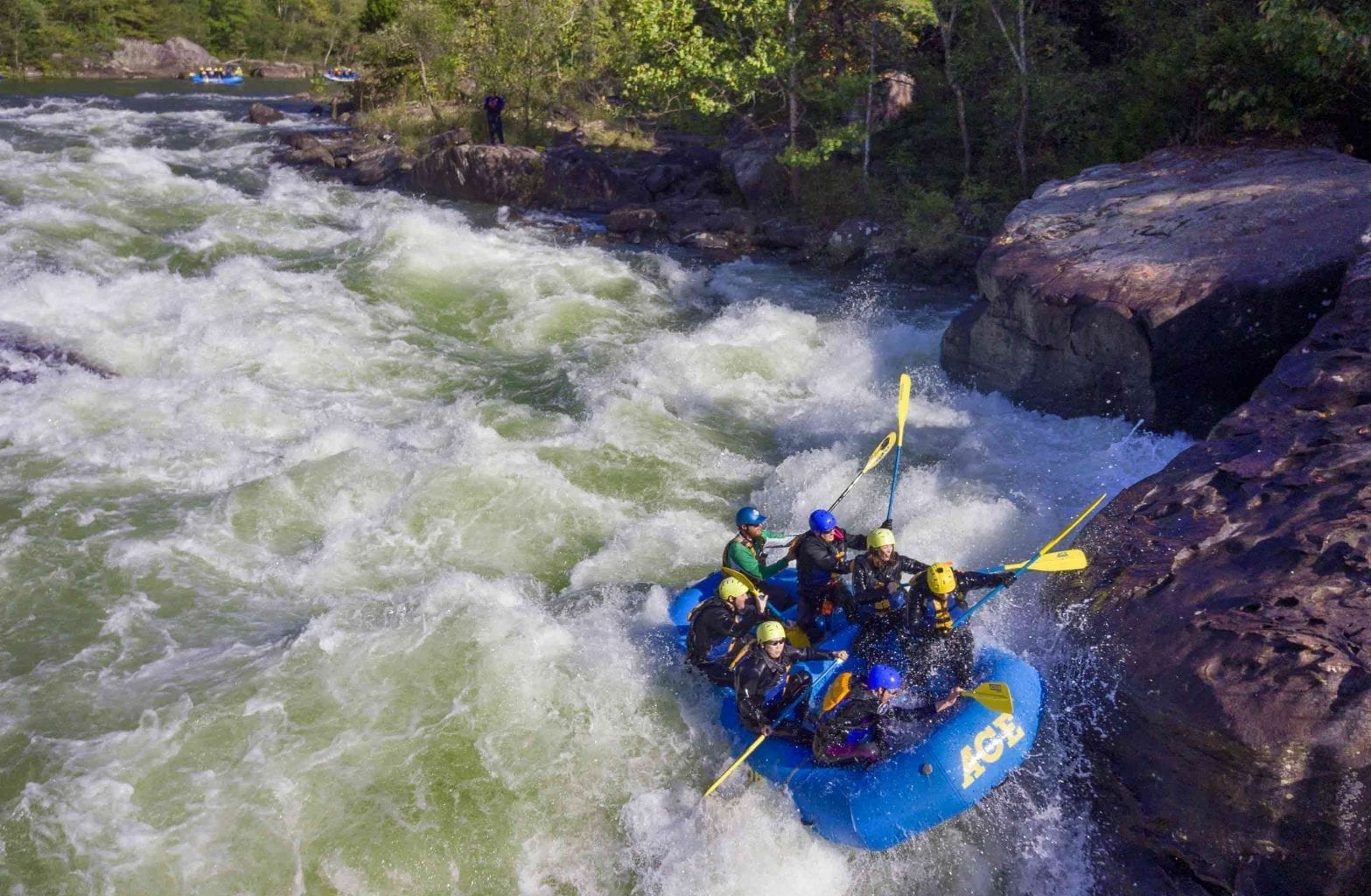 """Upper Gauley And Lower Gauley """"Reverse"""" Whitewater Rafting"""