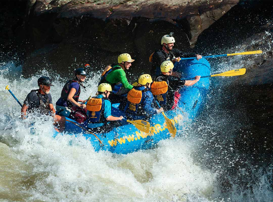 Pillow rock upper gauley rafters