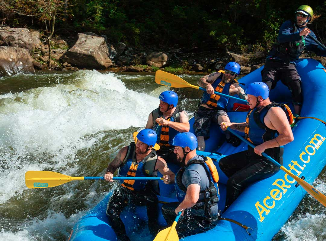 rafters on the upper gauley
