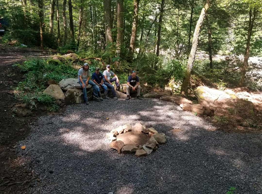 Campers at Woods Ferry